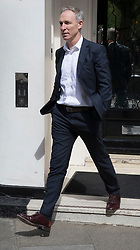 © Licensed to London News Pictures. 26/04/2017. London, UK. Former Scottish Labour leader Jim Murphy is seen leaving Tony Blair's office in the West End. Earlier, Mr Blair met with his former colleague Alastair Campbell. Mr Blair recently called for voters to think about backing Lib Dem or Conservative candidates in the general election on June 8th if they promise to have an open mind about the terms of the final Brexit deal. Photo credit: Peter Macdiarmid/LNP