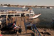 Egypt. Louxor - ferry boat . boats and felouqs on the Nile   Louxor - Egypte    /  ferry, bateaux et fellouques sur le nil  Louqsor - Egypt
