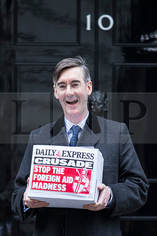 © Licensed to London News Pictures. 08/02/2018. London, UK. Jacob Rees-Mogg outside 10 Downing Street. Photo credit: Rob Pinney/LNP