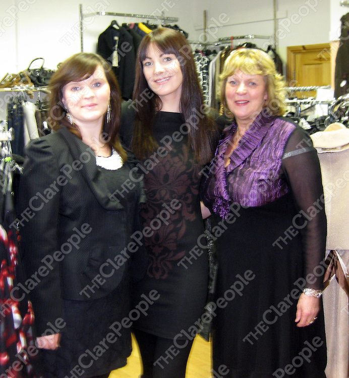 Aoife Daffy, Martina Costelloe and Annette Daffy marking the 20th anniversary of Annette's Boutique in Clarecastle.