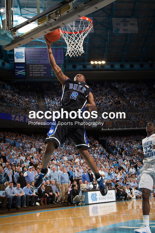 10 February 2010: Duke Blue Devils guard Nolan Smith (2) during a 82-50 win over the North Carolina Tar Heels at the Dean E. Smith Center in Chapel Hill, NC.