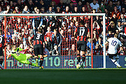 Tottenham Hotspur striker Harry Kane scores a penalty during the Barclays Premier League match between Bournemouth and Tottenham Hotspur at the Goldsands Stadium, Bournemouth, England on 25 October 2015. Photo by Mark Davies.
