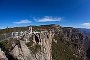 Swinging bridge, Divisadero lookout, Copper Canyon, Chihuahua, Mexico