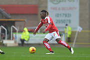 Swindon Town midfielder Drissa Traore on the attack during the Sky Bet League 1 match between Swindon Town and Scunthorpe United at the County Ground, Swindon, England on 14 November 2015. Photo by Mark Davies.