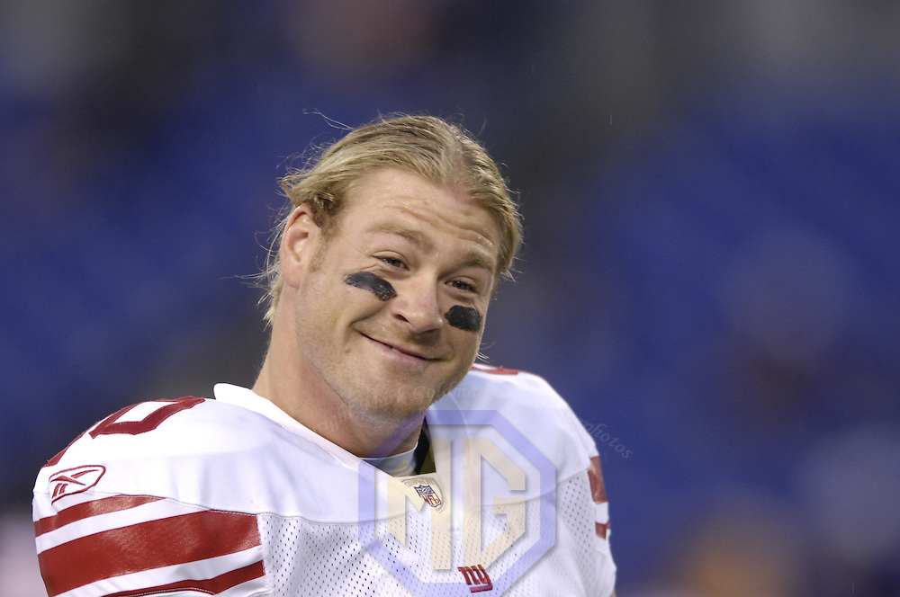 19 August 2007:  New York Giants tight end Jeremy Shockey (80) warms up prior to the pre season game against the Baltimore Ravens. The Giants defeated the Ravens 13-12 at M&T Bank Stadium in Baltimore, Md.