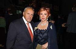 MR & MRS PANAGIOTIS LEMOS the wealthy Greek social figures at the Fortune Forum Dinner held at Old Billingsgate, 1 Old Billingsgate Walk, 16 Lower Thames Street, London EC3R 6DX<br /><br />NON EXCLUSIVE - WORLD RIGHTS