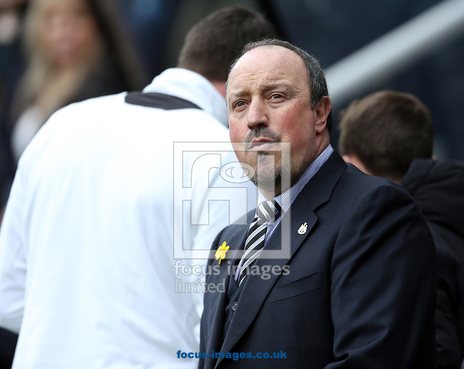 Newcastle United manager Rafa Benitez prior to the Barclays Premier League match at St. James's Park, Newcastle<br /> Picture by Simon Moore/Focus Images Ltd 07807 671782<br /> 20/03/2016