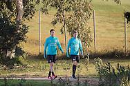 JEREZ DE LA FRONTERA, Spanje, voetbal, seizoen 2016-2017, 4-1-2017, winterstop, training PSV,  Monte Castillo Barcelo Resort, PSV speler Sam Lammers (L), PSV speler Dante Rigo (R).