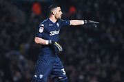 Francisco Casilla of Leeds United (33) in action during the EFL Sky Bet Championship match between Leeds United and West Bromwich Albion at Elland Road, Leeds, England on 1 March 2019.