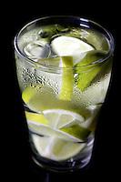Close up of lemon drink