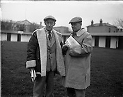 20/11/1956<br /> 11/20/1956<br /> 20 November 1956<br /> November Bloodstock sales at the RDS, Ballsbridge, Dublin. Picture shows St John Gough of Clonal and jockey Brian Cooper at the sales.