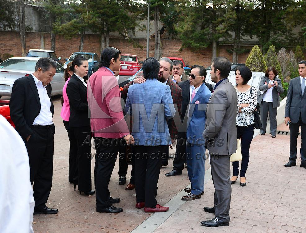 Almoloya de Juárez, México (Junio 6, 2016).- Emir Garduño Montaño mejor conocido en las redes sociales como #LordRollsRoyces se presento a declarar de forma voluntaria a los juzgados estatales de Almoloya de Juárez, a su salida fue detenido e ingresado inmediatamente al Penal de Santiaguito.  Agencia MVT / Crisanta Espinosa.