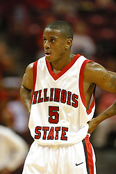 19 November 2005: Redbird Khalif Ford. In a non-conference race that came down to a photo finish, the Illinois State Redbirds slipped past the Indianapolis University Greyhounds 54-50 at Redbird Arena in Normal Illinois