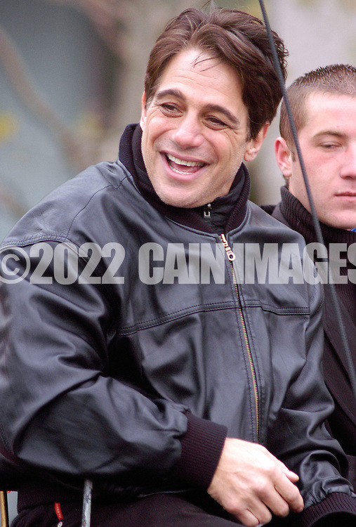 PHILADELPHIA - NOVEMBER 24:  Actor and talk show host Tony Danza waves to the crowd during Philadelphia's 86th Annual Thanksgiving Day Parade November 24, 2005 in Philadelphia, Pennsylvania. The Philadelphia parade is the oldest in the United States. (Photo by William Thomas Cain/Getty Images)