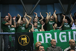 Fans of A.IR. Avellino at Euroleague match between KK Cibona and Air Avellino, on November 26, 2008, in Cibona Tower, Zagreb, Croatia. Match was won by Cibona 82:79. (Photo by Vid Ponikvar / Sportida)