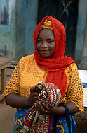 A woman at the market, logging town of Yokadouma, South East Cameroon.