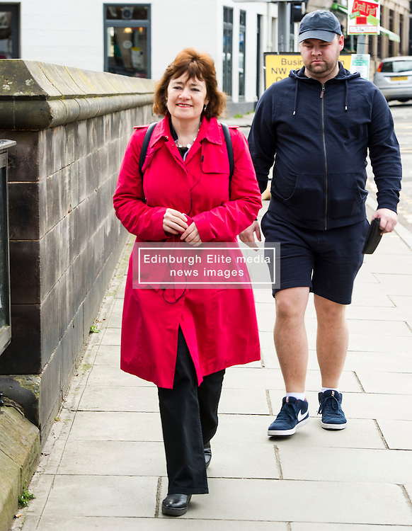 Pictured: Sarah Boyack attracted at least one new admirer.<br /> <br /> The former Scottish Labour leader Iain Gray joined colleague Sarah Boyack activists and supporters at a street stall at Stockbridge Market. <br /> Ger Harley | EEm 10 April 2016