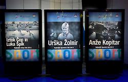Iztok Cop and Luka Spik, Urska Zolnir, Anze Kopitar at Slovenian Sports personality of the year 2012 annual awards presented on the base of Slovenian sports reporters, on December 20, 2011 in Cankarjev dom, Ljubljana, Slovenia. (Photo By Vid Ponikvar / Sportida.com)