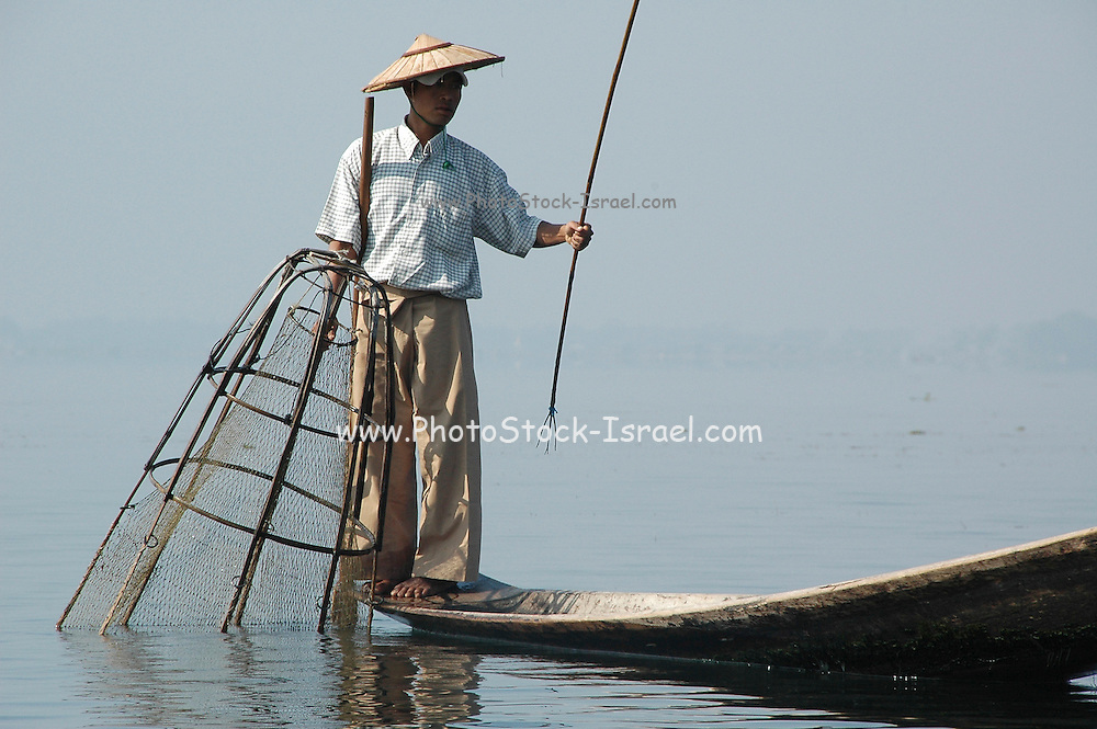 Myanmar Shan state Inle lake traditional fishing techniques