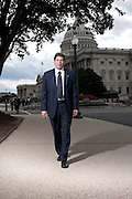 Senator Mark Begich, a Democrat from Alaska, poses for a portrait at the U.S. Capitol in Washington, DC, September 30, 2009.