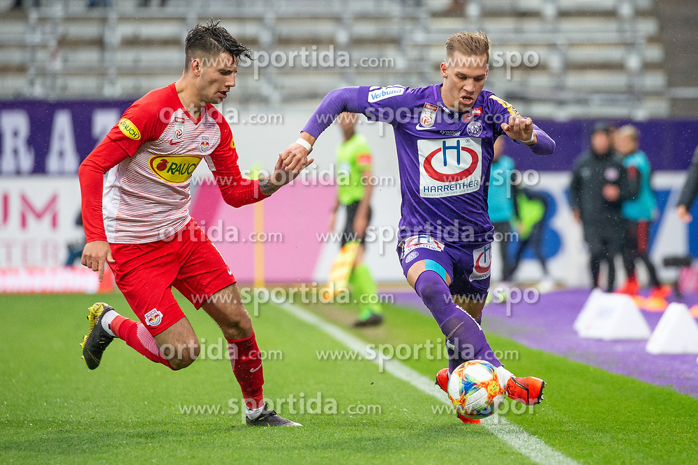 05.05.2019, Generali Arena, Wien, AUT, 1. FBL, FK Austria Wien vs FC Red Bull Salzburg, Meistergruppe, 29. Spieltag, im Bild v. l. Dominik Szoboszlai (FC Red Bull Salzburg), Christoph Monschein (FK Austria Wien) // f. l. Dominik Szoboszlai (FC Red Bull Salzburg) Christoph Monschein (FK Austria Wien) during the tipico Bundesliga master group 29th round match between FK Austria Wien and FC Red Bull Salzburg at the Generali Arena in Wien, Austria on 2019/05/05. EXPA Pictures © 2019, PhotoCredit: EXPA/ Florian Schroetter