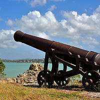 Cannon at Fort James in St. John&rsquo;s, Antigua<br />