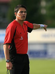Referee Roberto Ponis at 32th Round of Slovenian First League football match between NK Domzale and NK Hit Gorica in Sports park Domzale, on May 6, 2009, in Domzale, Slovenia. Gorica won 2:0. (Photo by Vid Ponikvar / Sportida)