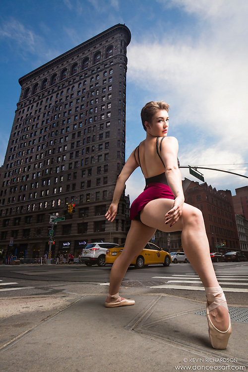 Dance As Art Photography Project- New York City Flatiron District featuring dancer, Abigale Horrell. Assistants- Lynne Mitchell, Darby Canessa and Max Brownsberger.