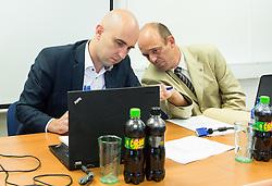 Jozko Krizan and Jurij Zurej during meeting of Executive Committee of Ski Association of Slovenia (SZS) on September 22, 2015 in SZS, Ljubljana, Slovenia. Photo by Vid Ponikvar / Sportida