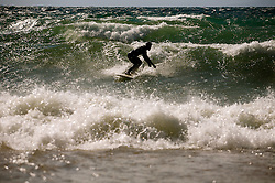 Brennan Lagasse surfs Tahoe's North Shore