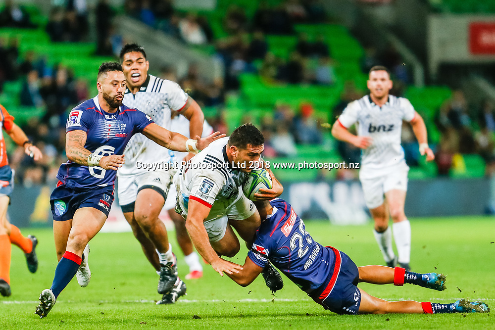 Codie Taylor during Rebels v Crusaders, 2018 Super Rugby season, AAMI Park, Melbourne, Australia. 4 May 2018. Copyright Image: Brendon Ratnayake / www.photosport.nz