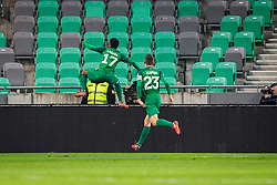Abass Issah of NK Olimpija Ljubljana during football match between NK Olimpija Ljubljana and NK Maribor in 1st leg match in Quaterfinal of Slovenian cup 2017/2018, on November 11, 2017 in SRC Stozice, Ljubljana, Slovenia.  Photo by Ziga Zupan / Sportida