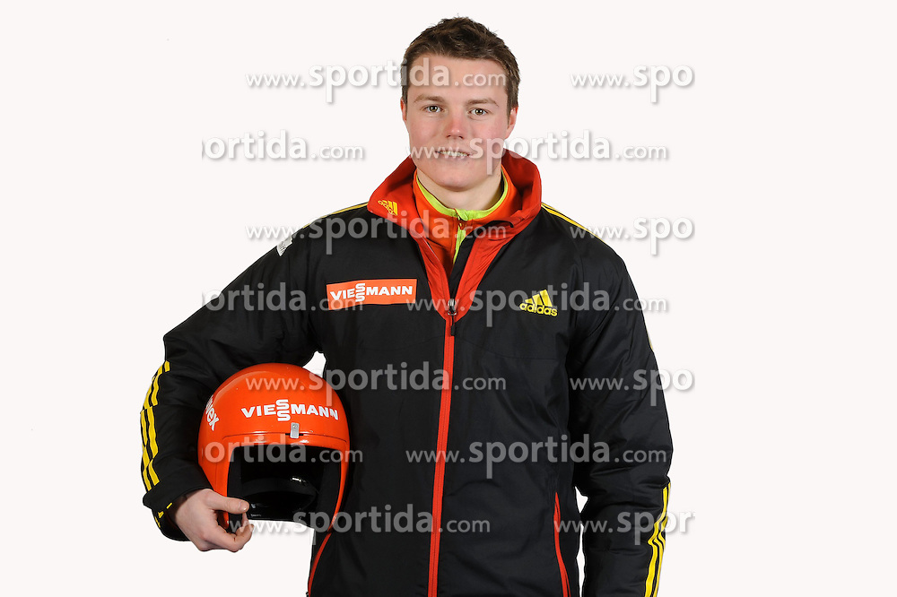 03.01.2014, Kunsteisbahn, Koenigssee, GER, BSD, Rennrodler Team Deutschland, Portrait, im Bild Florian Kuechler (RT Suhl ) // during Luge athletes of team Germany, Portrait Shooting at the Kunsteisbahn in Koenigssee, Germany on 2014/01/04. EXPA Pictures &copy; 2014, PhotoCredit: EXPA/ Eibner-Pressefoto/ Stuetzle<br /> <br /> *****ATTENTION - OUT of GER*****