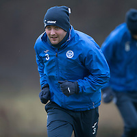 St Johnstone Training…09.12.16<br />Tam Scobbie pictured during training at McDiarmid Park this morning..<br />Picture by Graeme Hart.<br />Copyright Perthshire Picture Agency<br />Tel: 01738 623350  Mobile: 07990 594431