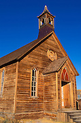 Afternoon light on the Methodist church on Green Street, Bodie State Historic Park (National Historic Landmark), California
