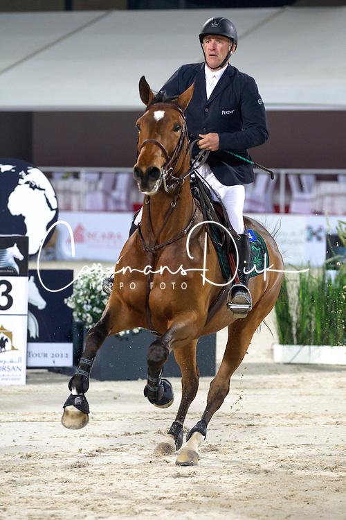 Bost Roger Yves (FRA) - Nikyta D'Elle<br /> Final Global Champions Tour - Abu Dhabi 2012<br /> &copy; Hippo Foto - Cindy Voss