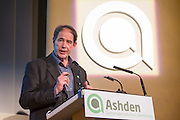 Jonathan Porritt Ashden chair speaking at the 2015 Ashden Awards ceremony held at the Royal Geographical Society, London. UK.