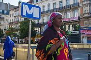 Bruxelles,24/06/2014: donne arabe, Metro Anneessen - arab women
