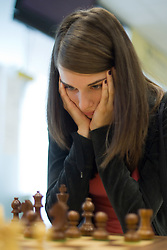 Slovenian Grandmaster Vesna Rozic in action during the National Chess Championships in Ljubljana on August 9, 2010.  (Photo by Vid Ponikvar / Sportida)