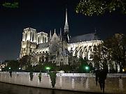 Notre Dame de Paris in the autumn.