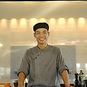 Portrait of a chef at the Nam Hai luxury resort in Danang, Vietnam.