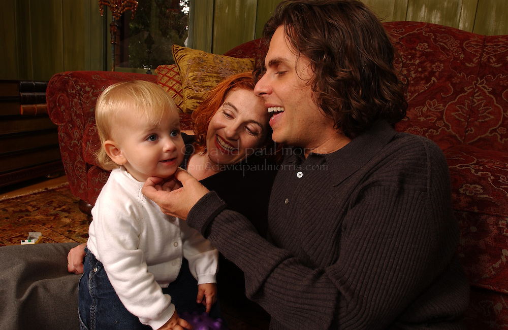 BERKELEY, CA - SEPT 27:  Authors Michael Chabon and Ayelet Waldman with their 3 children at home on September 27, 2002 in Berkeley, California. Photograph by David Paul Morris