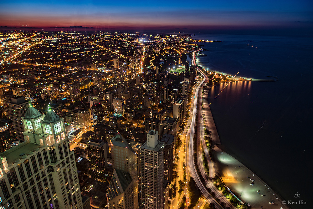 Aerial view, North Lakeshore Drive, Chicago