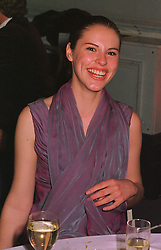 MISS PETRINA KHASHOGGI daughter of disgraced MP Jonathan Aitken, at a party in London on 30th January 1999.MNP 137