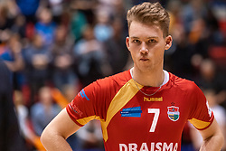 14-04-2019 NED: Achterhoek Orion - Draisma Dynamo, Doetinchem<br /> Orion win the fourth set and play the final round against Lycurgus. Dynamo won 2-3 / Rik van Solkema #7 of Dynamo