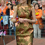 Koningsdag 2014 in Amstelveen, het vieren van de verjaardag van de koning. / Kingsday 2014 in Amstelveen, celebrating the birthday of the King. <br /> <br /> <br /> Op de foto / On the photo:  Prinses Aimee / Princess Aimée