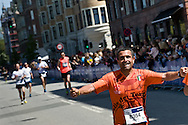 24.05.2015. Copenhagen, Denmark. Morocco's Hassane Ahuchard was the winner of the Copenhagen Marathon 2015, after running 42,195 km in 2 hrs, 15 minutes and 24 seconds. About 12,000 contestants participated in the marathon that started in Islands Brygge.Photo: © Ricardo Ramirez