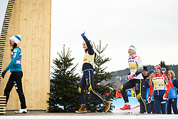 February 24, 2019 - Seefeld In Tirol, AUSTRIA - 190224 Stina Nilsson and Maja Dahlqvist of Sweden celebrates at the podium after in women's team sprint final during the FIS Nordic World Ski Championships on February 24, 2019 in Seefeld in Tirol..Photo: Joel Marklund / BILDBYRN / kod JM / 87888 (Credit Image: © Joel Marklund/Bildbyran via ZUMA Press)