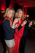 JENNY LEANDERSON; VIKTORIA ALERVALL, Hosted by Interview Russia.  On behalf of Ferrari, Peter M. Brant and SothebyÕs Tobias Meyer party in honor of FerrariÕs Chairman, Luca di Montezemolo, 1111 Lincoln Road, the iconic car-park in the shopping mall designed by the Pritzker prize winning team Herzog & de Meuron.,  Miami Beach. 29 November 2011.<br /> JENNY LEANDERSON; VIKTORIA ALERVALL, Hosted by Interview Russia.  On behalf of Ferrari, Peter M. Brant and Sotheby's Tobias Meyer party in honor of Ferrari's Chairman, Luca di Montezemolo, 1111 Lincoln Road, the iconic car-park in the shopping mall designed by the Pritzker prize winning team Herzog & de Meuron.,  Miami Beach. 29 November 2011.