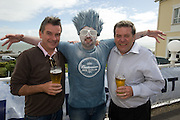 Kevin Whelahan from Diageo and Jim McSpadden Diageo and the ICEMAN  at the Budweiser Ice Cold Summer BBQ, broadcast live on the Tony Fenton Show at The Galway Bay Hotel in Salthill. Photo:Andrew Downes.. .Both Duke Special and The Divine Comedy performed at the summer kick-off party and Today FM's Tony Fenton Show broadcast live from the hotel all afternoon...The 150 invited guests included Today FM listeners ad Budweiser Ice Cold Facebook fans from all over the country. Guests also won the chance to win a cool Grand in cash, meet Mr. Iceman and of course enjoy a pint of Budweiser Ice Cold, the coldest pint ever!..Enjoy Budweiser Ice Cold sensibly visit www.drinkaware.ie ..This event was strictly over 18's,..-ENDS-..FOR FURTHER INFORMATION PLEASE CONTACT:.Killian Burns / Aoiffe Madden..Killian.burns@ogilvy.com / aoiffe.madden@ogilvy.com.WHPR..Tel: 01 6690030.